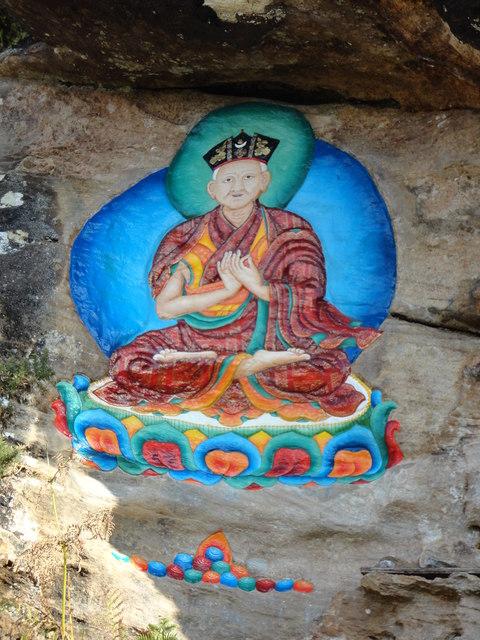 Tibetan Buddhist rock painting