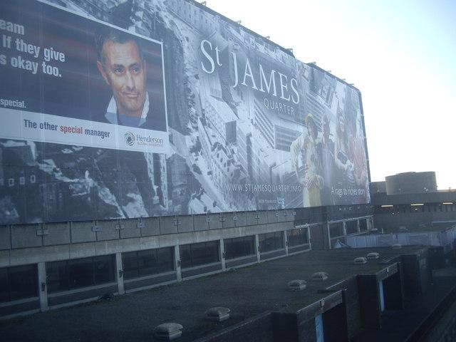 A 'St James Quarter' mural