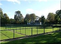 TQ7668 : Pavilion, Officers Tennis Club, Brompton by David Anstiss