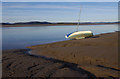 SD4478 : Dinghy on the mud, Arnside by Ian Taylor