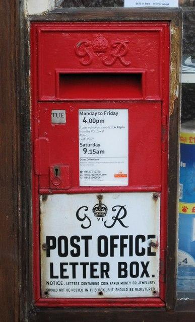 "George VI ""Ludlow"" postbox, Garrigill"