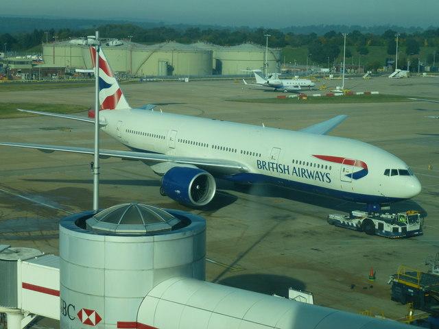 Gatwick Airport North Terminal Postcode >> British Airways plane at Gatwick North... © Richard ...