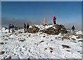 NN9898 : The summit of Ben Macdui by Walter Baxter