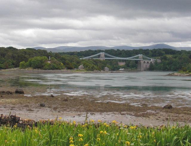 Church Island & the Menai Suspension Bridge