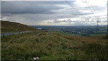 SD9617 : Rochdale from Cowberry Hill by Steven Haslington