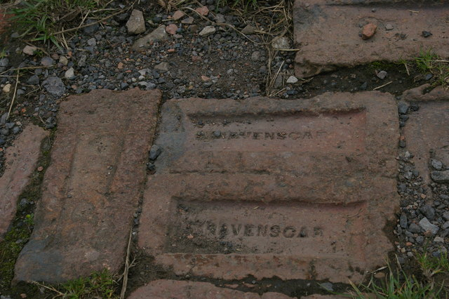 Ravenscar: bricks from the local works, Cleveland Way