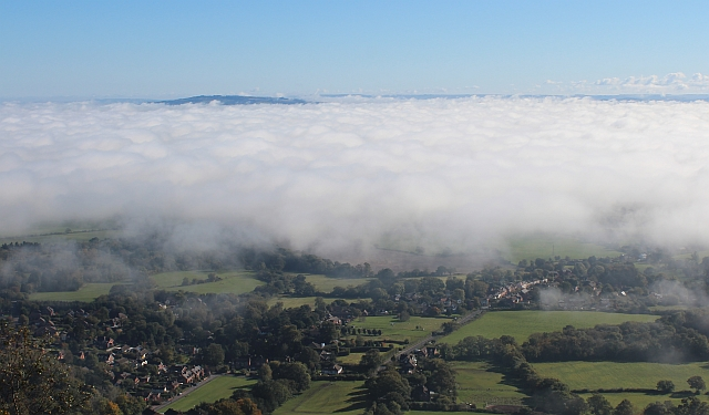 Low cloud over the Severn Plain