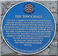 SS9668 : Town hall blue plaque, Llantwit Major by Jaggery