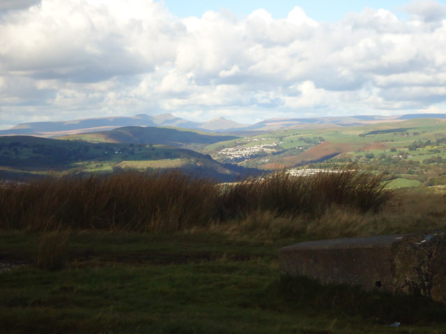 View north from fallen trig point