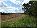SO8652 : Stubble field beside the A4440 by Andrew Darge