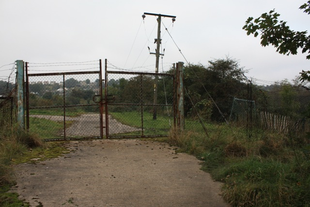 South Gateway to Disused Land at Acres Hall
