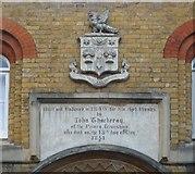 TQ3774 : Thackeray's Almshouses inscription by Roger W Haworth