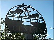 TQ7167 : Cuxton Village Sign (close-up) by David Anstiss
