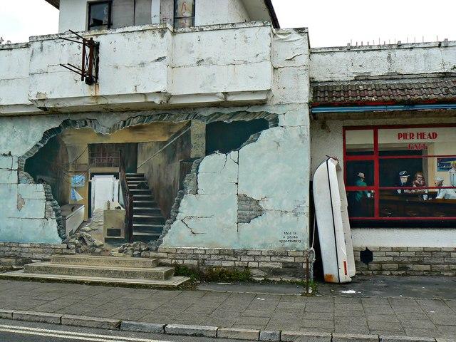 Trompe l'oeil (2), Swanage, Dorset