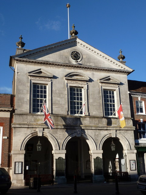 Blandford Forum: Town Hall frontage