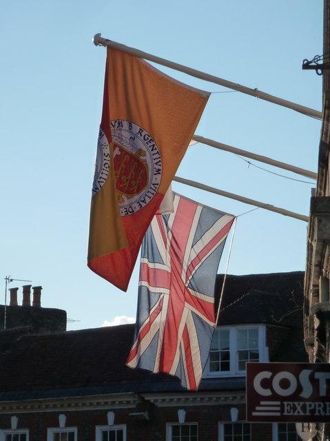 Blandford Forum: Town Hall flags
