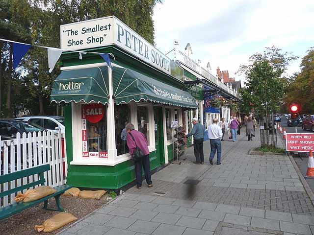 The world's smallest shoe shop (perhaps!)