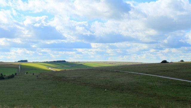 2012 : Barren landscape north of Chitterne