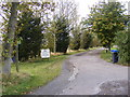 TM4182 : Footpath & entrance to Low Farm & The Old Orchard by Adrian Cable