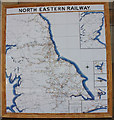 SE7984 : Tiled map of the North Eastern Railway routes by Pauline E