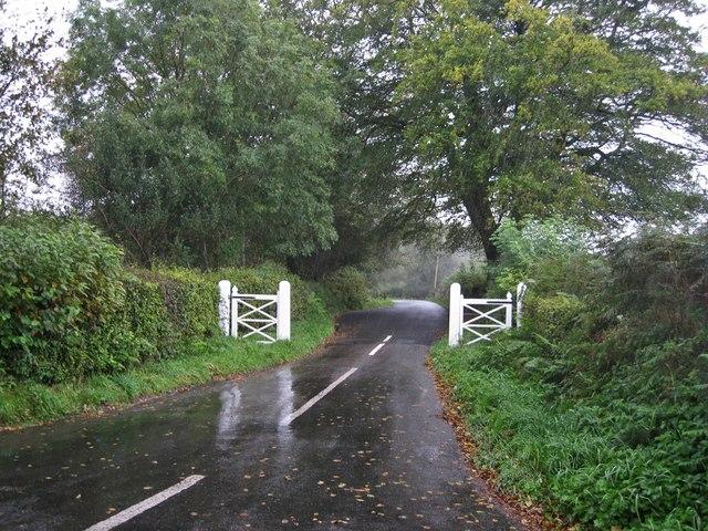 Minor road towards Coombe