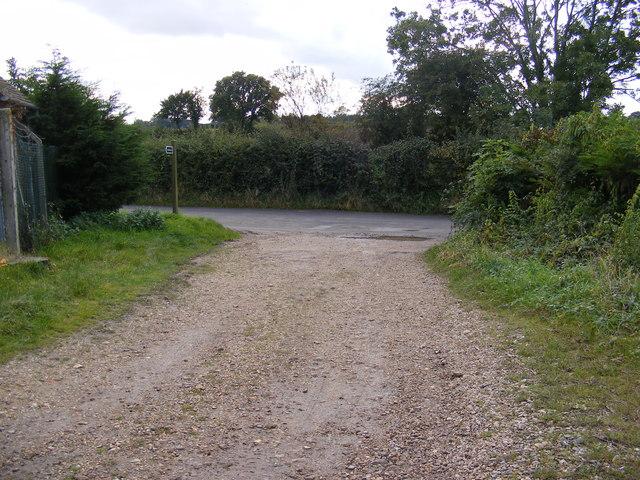 Bridleway looking towards Redisham Road