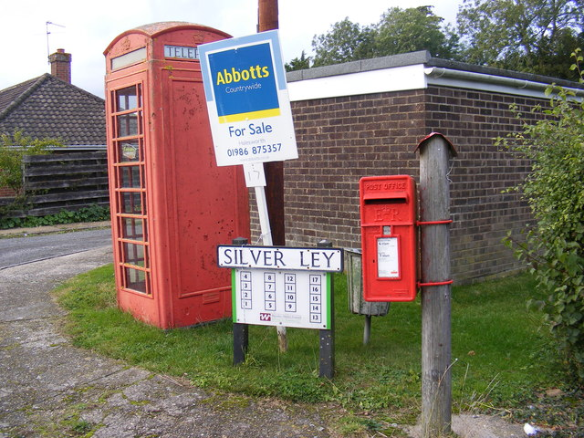 Telephone Box & Silver Ley Postbox