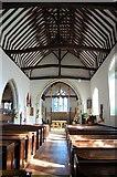 TQ5802 : Interior, St Mary's church, Willingdon by Julian P Guffogg