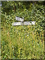 TM4186 : Roadsign on Redisham Road by Adrian Cable