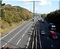 ST3589 : M4 motorway between Royal Oak Hill and The Coldra, Newport by Jaggery