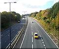 ST3489 : M4 motorway SW of Royal Oak Hill, Newport by Jaggery