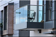 TQ3979 : Glass balcony detail by Oast House Archive