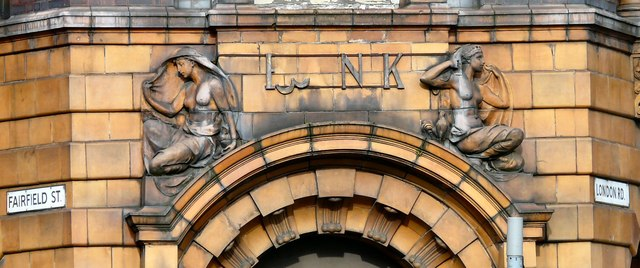 London Road Fire Station: Bank doorway detail