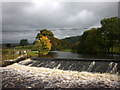 SD8165 : Weir on the River Ribble near Langcliffe by Karl and Ali