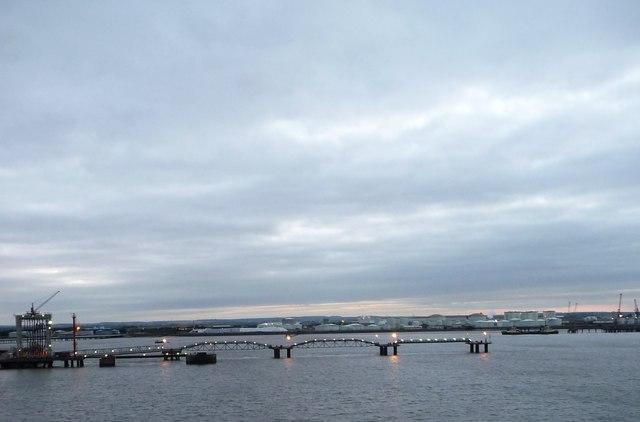 Western end, deepwater jetty, Immingham Dock