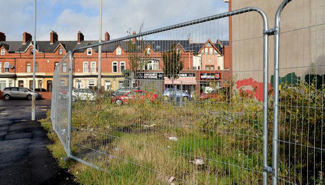 Vacant site, Beersbridge Road, Belfast (October 2012)