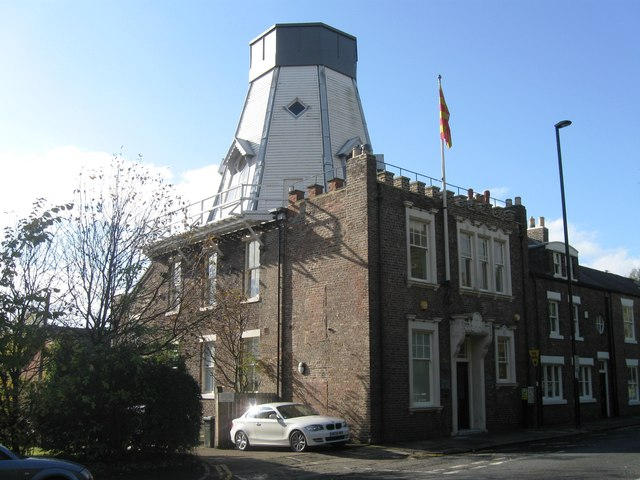 Former windmill and golf club house