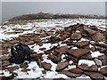 NH9802 : The summit cairn of Cairn Lochan by Walter Baxter
