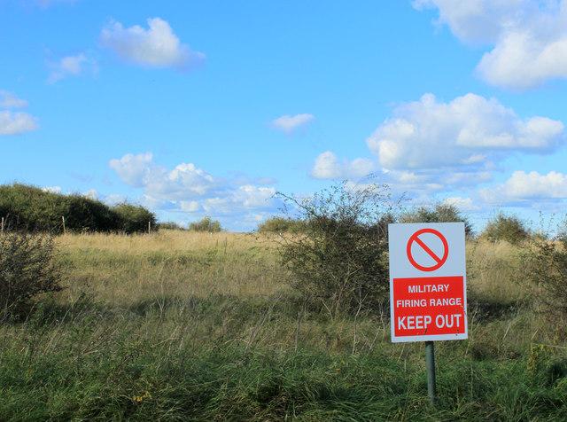 2012 : Military Firing Range Keep Out