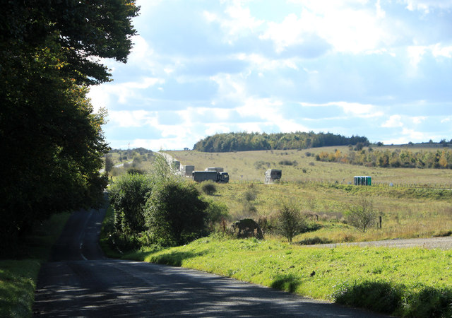 2012 : Convoy on the Tilshead to Chitterne road