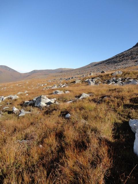 Rocky slopes above Glen Iorsa