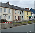 SN7634 : Colourful Broad Street houses, Llandovery by Jaggery