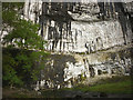 SD8964 : Black streaks on the face of Malham Cove by Karl and Ali