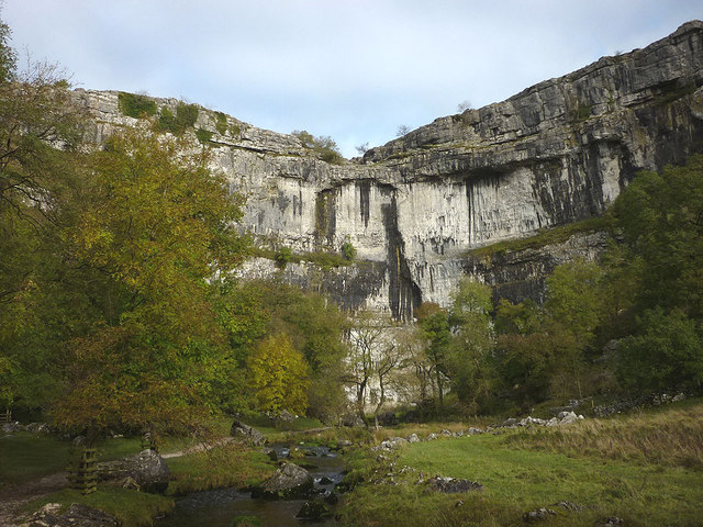 Malham Beck flowing away from the Cove