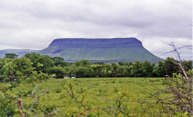Benbulben (1,725 ft.), Ireland's 'Table Mountain', from Grange