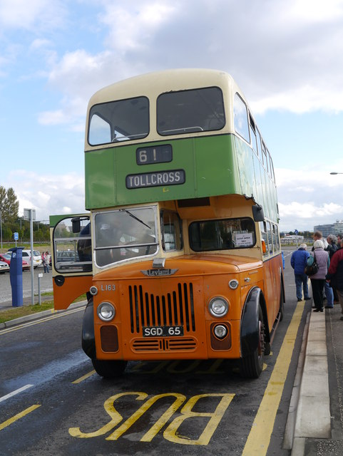 GVVT Open Day 2012: A Glasgow Corporation Leyland Titan At Riverside Museum Bus Stop