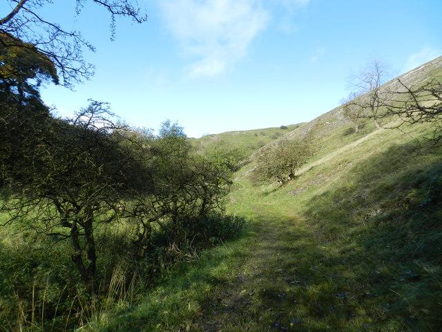Footpath west of Wetton Hill