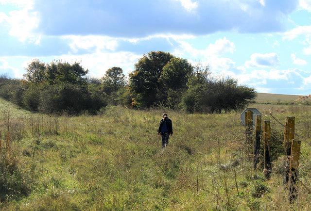 2012 : Walkers on a boggy bit of Salisbury Plain