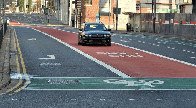 Oxford Street bus lane, Belfast (3)