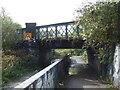 TL0449 : Railway bridge over path, Bedford by Malc McDonald